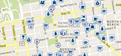 Walk Score Neighborhood Map