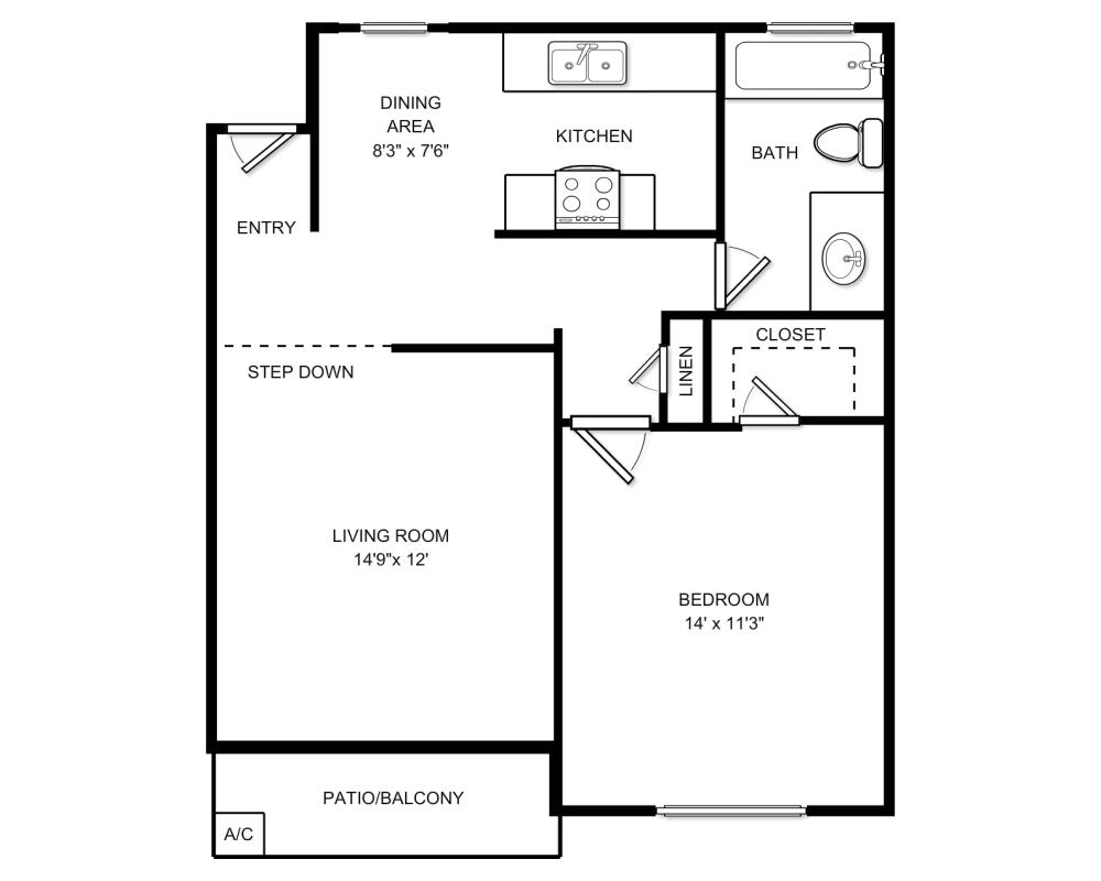 $1754 1 bedroom Apartment in Santa Ana