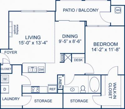 One BR Apartment - Camden Silo Creek is located in the Broadlands subdivision Apartments photo #1