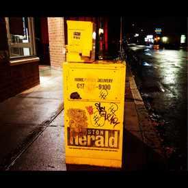 Photo of Wheatpaste On News box