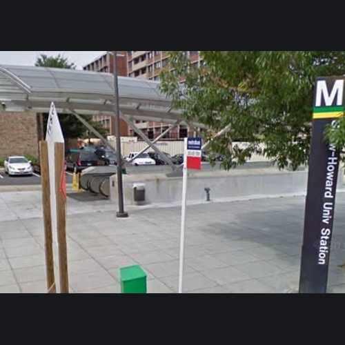 photo of Shaw-Howard Metro Stop: south entrance at 1701 8th Street Northwest Washington DC 20001
