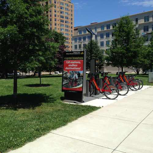 photo of Capital Bikeshare: Wilson Blvd & N Oakland St at 816 North Oakland Street Arlington VA 22203