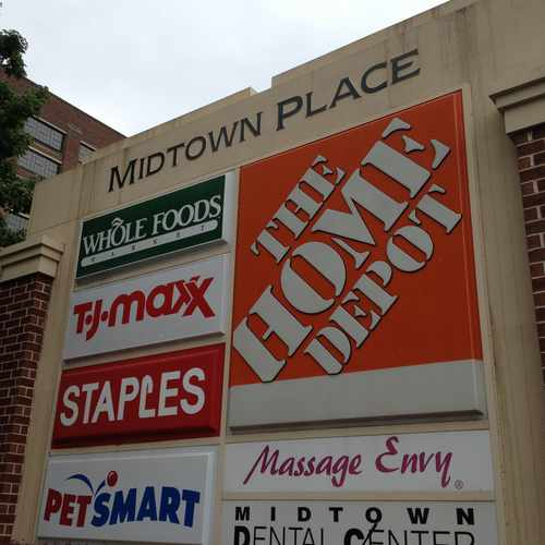 photo of Midtown Place Shopping Center at 650 Ponce De Leon Avenue Northeast Atlanta GA 30308