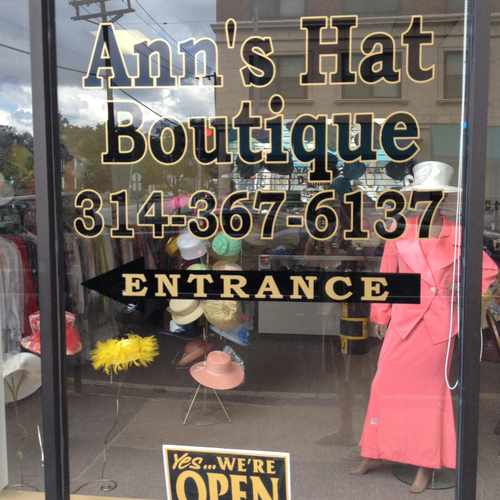 photo of Ann's Hat Boutique at 625 North Euclid Avenue St. Louis MO 63108