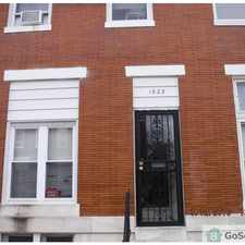 Rental info for Nice 3 bedroom rowhome with new paint! in the Baltimore area
