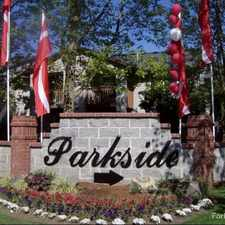 Rental info for Parkside in the Eugene area