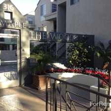 Rental info for The Woods at Toluca Lake