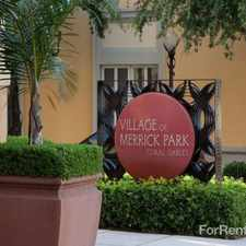 Rental info for Residences At Merrick Park