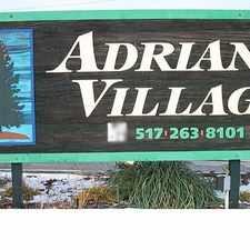 Rental info for Adrian Village