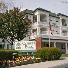 Rental info for Cypress Park Senior Community