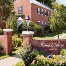 Rental info for Hancock Village