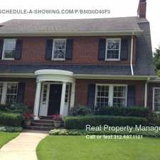Rental info for Stunning 4 Br, 4.5 Ba Single Family Home in Kenilworth