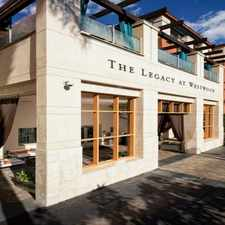 Rental info for The Legacy At Westwood in the Westside area