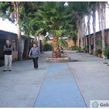Rental info for HANDICAP BUILDING CALIFORNIA HOUSE STYLE HUGE YARD WITH MANY PALM TREES MOSTLY SENIORS GATED PARKING GATED BUILDING STOVE & FRIG INCLUDED FULL SIZE KITCHEN MANAGER IN UNIT#6 PLEASE CALL FOR VIEWING 1-310-926-7874 ED in the Los Angeles area