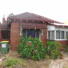 Rental info for 3 x 1 South Perth HOUSE!