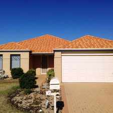 Rental info for GREAT LOCATION GREAT FAMILY HOME in the Perth area