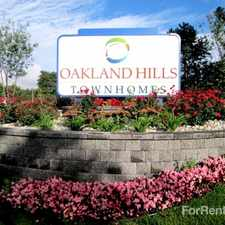 Rental info for Oakland Hills Townhomes