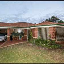 Rental info for Neat & Tidy Family Home in the Roleystone area