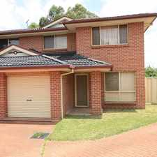Rental info for Generous size double story duplex in the Sydney area
