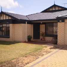 Rental info for BIG FAMILY HOME IN MEADOW SPRINGS in the Madora Bay area
