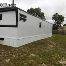 Rental info for $795 2 bedroom Mobile home in South San Antonio Other S San Antonio
