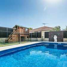 Rental info for WELL PRESENTED FAMILY HOME-4 X 2 plus sparkling pool in the Mindarie area