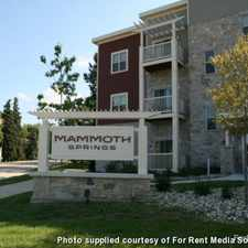 Rental info for Mammoth Springs