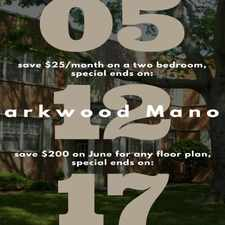 Rental info for Parkwood Manor Apartments in the Norfolk area