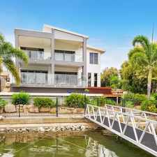 Rental info for STYLISH, NORTH FACING WATERFRONT HOME WITH POOL AND PONTOON in the Oxenford area
