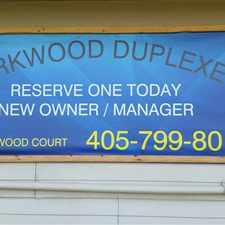 Rental info for Parkwood Duplexes in the 73160 area