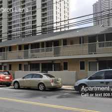 Rental info for 355A Hobron Lane