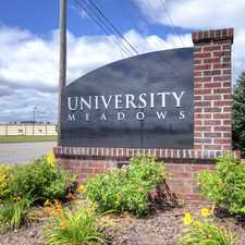 Rental info for University Meadows in the Mount Pleasant area