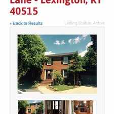 Rental info for 4 bedroom single family home in the Lexington-Fayette area