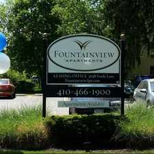 Rental info for Fountainview Apartments in the Cross Country area