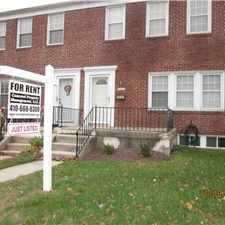 Rental info for 3 Bedroom TH in Parkville, Feb, Move-in Deal! in the Carney area