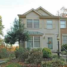 Rental info for End Unit Townhouse in Desired Area in the Germantown area