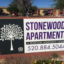 Rental info for Stonewood Apartments in the Tucson area
