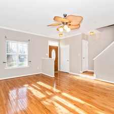 Rental info for Large brickfront townhome hardwood flooring throughout.
