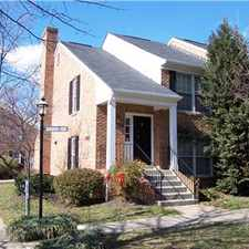 Rental info for Arlington, VA (Shirlington) Townhouse in the Nauck area