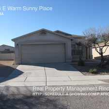 Rental info for 10044 E Warm Sunny Place
