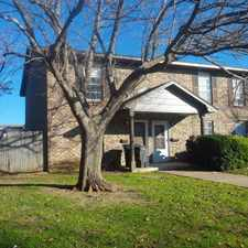 Rental info for Excellent neighborhood near Interstate 20 & Granbury Road. Newly renovated upstairs/downstairs 2 BR unit with ceramic tiles in bathoom and kitchen, covered car-port, attached fenced yard, very close to shopping, schools and public transport. in the Wedgwood Square area
