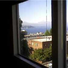 Rental info for studio with a great view for rent in the Seattle area