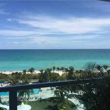 Rental info for 5161 Collins Avenue #1017