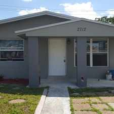 Rental info for Must See - Single Family House 3/1. Huge back Yard. Completely redone. New Wood Kitchen with Stainless steel Appliances. New porcelain Tiles throughout. Has Washer/Dryer in the house. Bathroom redone. Tankless water heater. Many more upgrade done. in the Pompano Beach area