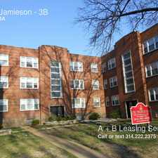 Rental info for 4918 Jamieson in the St. Louis Hills area