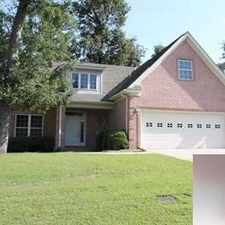 Rental info for Lovely brick home overlooking golf course. Washer/Dryer Hookups!