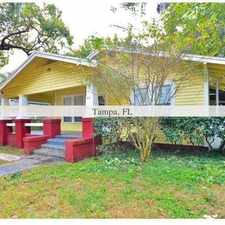 Rental info for Quaint Bungalow Style Home located in the Historic Tampa Heights Area. Washer/Dryer Hookups! in the Tampa Heights area