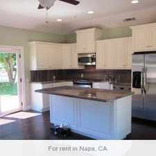 Rental info for Gorgeous Napa, 1 bedroom, 1 bath