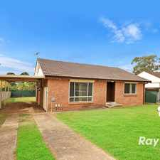 Rental info for Bright, Large and Well Maintained Family Home. in the Blacktown area