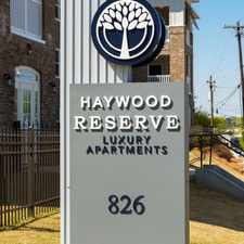Rental info for Haywood Reserve